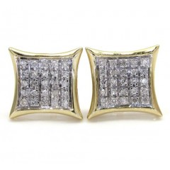 10k Gold 5 Row Diamond Kite Earrings 0.18ct
