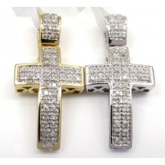 10k Gold Diamond Mini Cro...