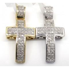 10k Gold Diamond Mini Cro...