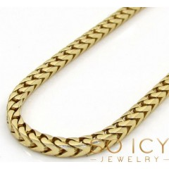 14k Solid Yellow Gold Franco Chain 26-30 Inch 2.3mm