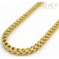 10k Yellow Gold Skinny Hollow Franco Chain 20-34 Inch 2mm