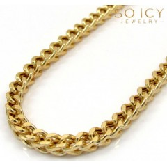 10k Yellow Gold Hollow Franco Chain 20-40 Inch 2.8mm