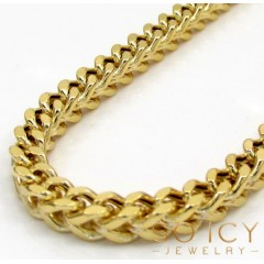 10k Yellow Gold Hollow Large Franco Chain 20-40 Inch 3.5mm
