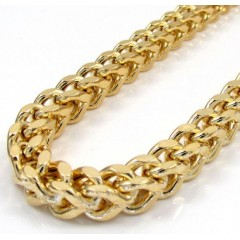 10k Yellow Gold Hollow Xxl Franco Chain 20-34 Inch 6mm