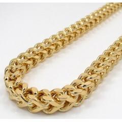 10k Yellow Gold Hollow Xxxl Franco Chain 20-34 Inch 7mm