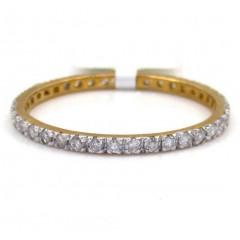 10k Yellow Gold Single Row White Diamond Band 0.36ct