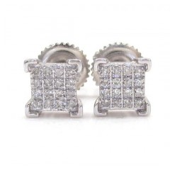 925 White Sterling Silver Diamond Earrings 0.20ct