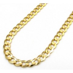 14k Yellow Gold Solid Cuban Chain 18-22 Inch 3mm