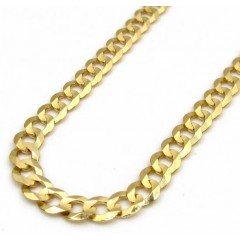 14k Yellow Gold Solid Cuban Chain 18-22 Inch 3.50mm