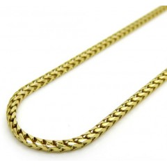 14k Solid Yellow Gold Solid Skinny Franco Chain 24-28 Inch 1.4mm