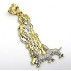 10k Yellow Gold Large Saint Lazarus Of Bethany Pendant