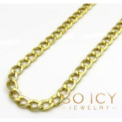 10k Yellow Gold Hollow Cuban Chain 24 Inch 3.50mm