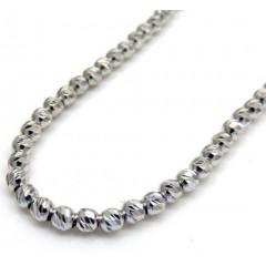 14k White Gold Diamond Cut Ball Chain 16-24 Inch 2.3mm