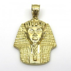 10k Yellow Gold Diamond Cut Small King Tut Egyptian Pendant