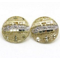 10k Yellow Gold Two Tone Twelve Disciples Last Supper Earrings