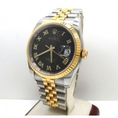 18k Yellow Gold And Stainless Steel Mens Rolex 36mm Datejust Watch