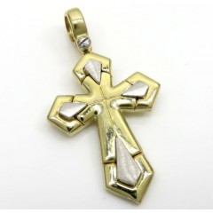 14k Yellow And White Gold Two Tone Sword Cross