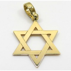 14k Yellow Gold Small Star Of David Pendant