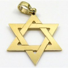 14k Yellow Gold Medium Star Of David Pendant