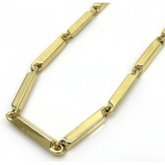 10k Yellow Gold Fancy Bullet Bar Chain 24-30 Inch 2.6mm
