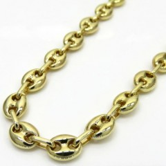 10k Yellow Gold Puffed Gucci Chain 24 Inch 6.3mm