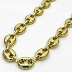 10k Yellow Gold Puffed Gucci Chain 20-28 Inch 7mm