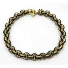 Baraka 18k Yellow Gold Cyborg Ceramic Collection Bracelet 0.02ct