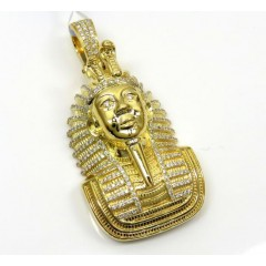 14k Yellow Gold Diamond Pharaoh Pendant 0.82ct