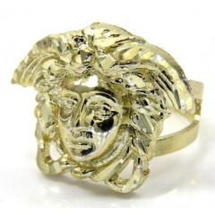 10k Yellow Gold Medusa Head Split Shank Ring