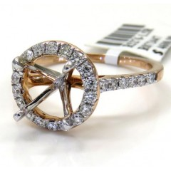 14k Rose Gold Round Diamo...