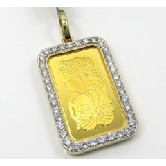 24k Gold Medium Lady Fortuna Diamond Pendant 2.13ct