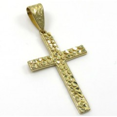 10k Yellow Gold Medium Nugget Cross