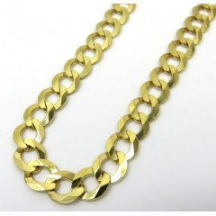 14k Yellow Gold Solid Cuban Link Chain 30 Inch 8.5mm