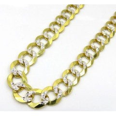 14k Yellow Gold Diamond Cut Solid Cuban Link Chain 24-26 Inch 8.5mm