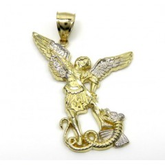 10k Yellow Gold Small Saint Michaels Pendant