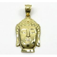 10k Yellow Gold Small Buddha Face Pendant