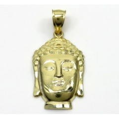 10k Yellow Gold Small Buddha Face Pendant
