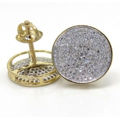 14k Yellow Gold Large Diamond Snow Cap Earrings 0.50ct