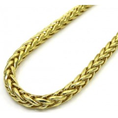 10k Yellow Gold Hollow Wheat Chain 22-24 Inch 3.50mm