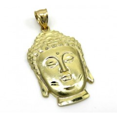 10k Yellow Gold Medium Buddha Face Pendant