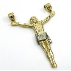10k Two Tone Gold Large Jesus Pendant