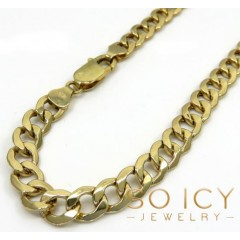10k Yellow Gold Hollow Cuban Bracelet 8.50 6mm