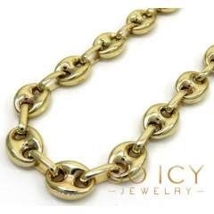 14k Yellow Gold Gucci Solid Link Chain 24-26 Inch 7mm