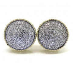 10k Yellow Gold Xl Diamond Snow Cap Earrings 0.48ct