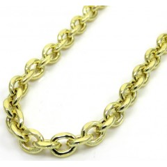 10k Yellow Gold Hollow Cable Chain 26 Inch 3.80 Mm
