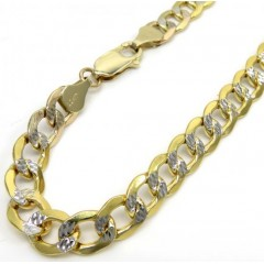 10k Yellow Gold Diamond Cut Cuban Bracelet 8.50