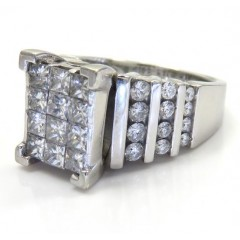 14k White Gold Princess D...