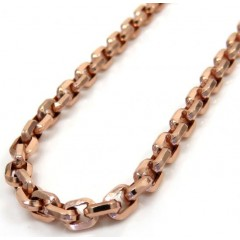 10k Rose Gold Hollow Cable Chain 24 Inches 3.8mm