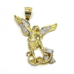 14k Yellow Gold Small Saint Michaels Pendant