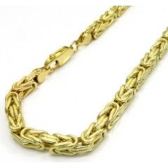 10k Yellow Gold Byzantine Bracelet 8.50 Inch 4mm